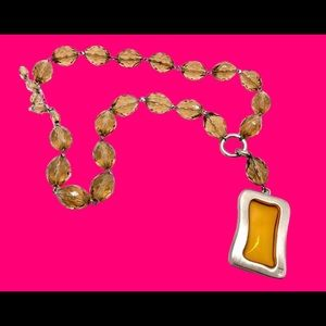 Haute Couture Givenchy Honey Amber Crystal Choker